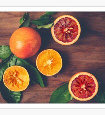 Still Life with Ripe Juicy Citrus Fruits Sticker