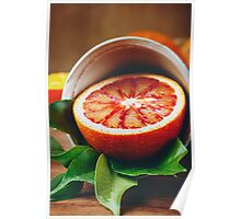 Ripe Juicy Half of an Orange Citrus Fruit Poster