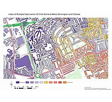 Multiple Deprivation Norland ward, Kensington & Chelsea Photographic Print