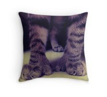 Big Kitten Paws Throw Pillow