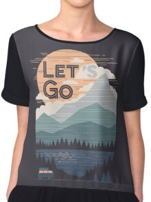 Let's Go Chiffon Top