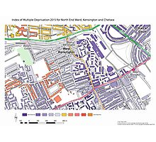 Multiple Deprivation North End ward, Kensington & Chelsea Photographic Print