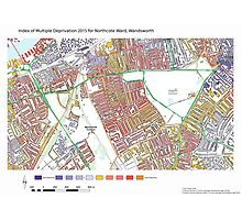 Multiple Deprivation Northcote ward, Wandsworth Photographic Print