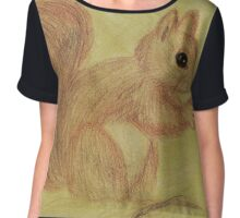 Squirrel in the Autumn Forest Chiffon Top