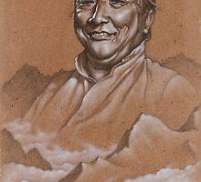 Khyentse Above the Clouds; Dilgo Khyentse Rinpoche by brendonart