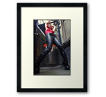 leather boots Framed Print