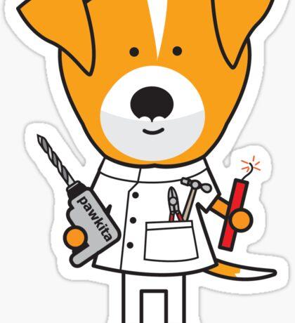 Daphne the Dentist Dog Sticker