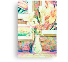 Lillies and Rainbows Canvas Print