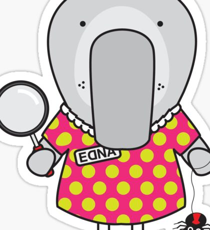Edna the Entomologist Elephant Seal Sticker