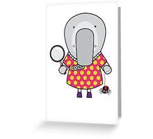 Edna the Entomologist Elephant Seal Greeting Card