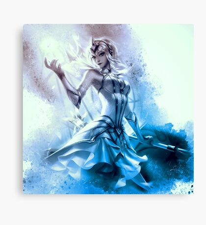 Elementalist Lux Ice Canvas Print
