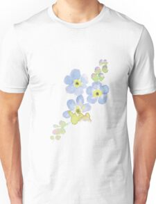 Forget-me-not water color painting Unisex T-Shirt
