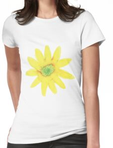 Yellow Daisy water color painting Womens Fitted T-Shirt