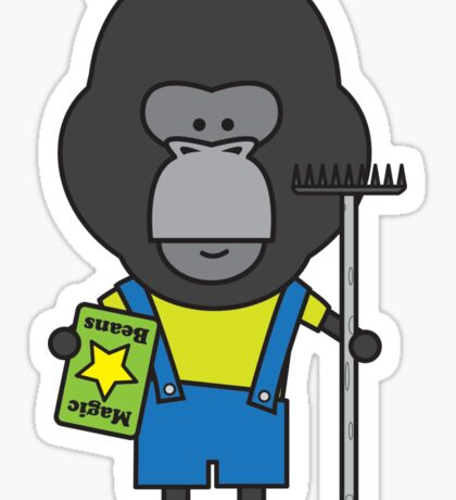 Gloria the Gorilla Gardener Sticker