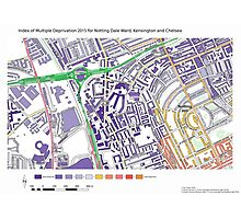 Multiple Deprivation Notting Dale ward, Kensington & Chelsea Photographic Print