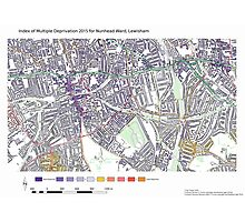 Multiple Deprivation Nunhead ward, Lewisham Photographic Print