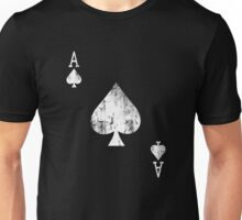 Ace of Spades Distressed  Unisex T-Shirt