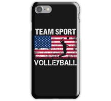 USA  Flag Volleyball T-Shirts - Volleyball Team Gift iPhone Case/Skin