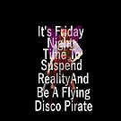 Friday flying disco pirate by IanByfordArt