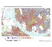 Multiple Deprivation Palace Riverside ward, Hammersmith & Fulham Photographic Print