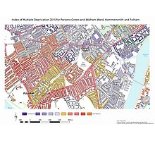 Multiple Deprivation Parsons Green & Walham ward, Hammersmith & Fulham Photographic Print