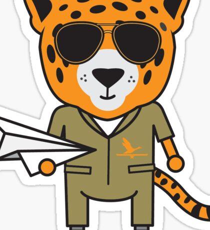 James the Jet Pilot Jaguar Sticker
