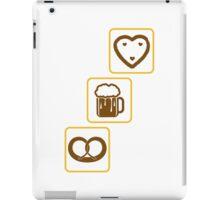 cool design drinking team brezeln bier krug saufen trinken party feiern lebkuchenherz krug spaß essen hunger trinken alkohol symbol cool shirt oktoberfest  iPad Case/Skin
