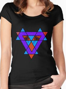 Eyes Crying in Western tribal Women's Fitted Scoop T-Shirt