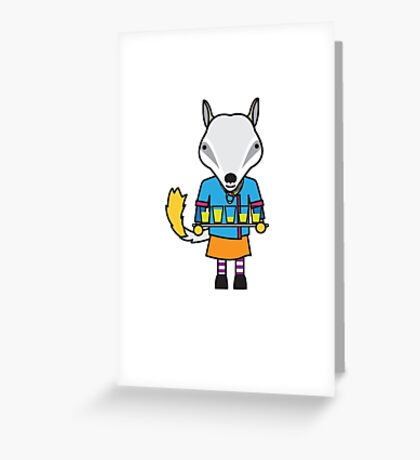 Naomi the Numbat Nutritionist Greeting Card