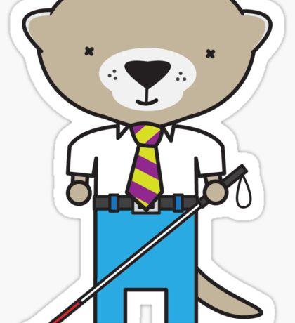 Oliver the Optometrist Otter Sticker