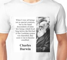 When I View All Beings - Charles Darwin Unisex T-Shirt