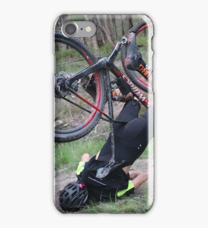 Mountain bike face plant iPhone Case/Skin