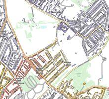 Multiple Deprivation Peckham Rye ward, Lewisham  Sticker