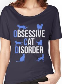 Funny OCD Obsessive Cat Disorder Women's Relaxed Fit T-Shirt