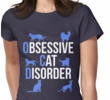 Funny OCD Obsessive Cat Disorder Womens Fitted T-Shirt