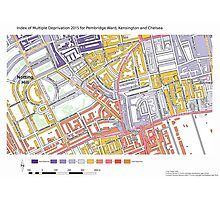 Multiple Deprivation Pembridge ward, Kensington & Chelsea Photographic Print