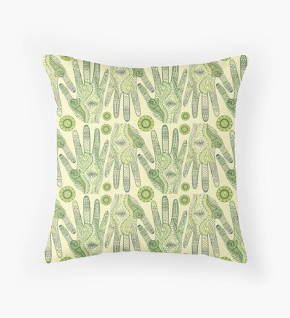 Hand floral texture hand painted. Seamless abstract pattern Throw Pillow