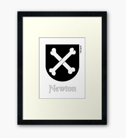 Newton, coat of arms Framed Print