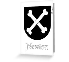 Newton, coat of arms Greeting Card