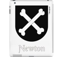 Newton, coat of arms iPad Case/Skin