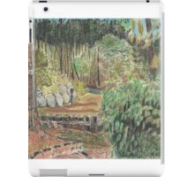 View of woods from cabin, Dune de Pyla, France iPad Case/Skin