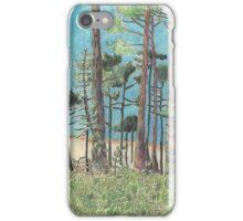 Dune de Pyla through the trees. iPhone Case/Skin