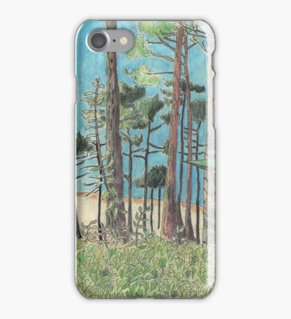 Dune de Pyla through the trees. iPhone Case/Skin