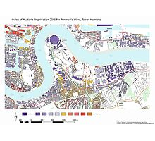 Multiple Deprivation Peninsula ward, Tower Hamlets Photographic Print