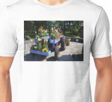 Old Tractor Floral Display Unisex T-Shirt
