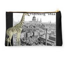 Standing Tall Giraffe in London HNTM Greeting Card Studio Pouch