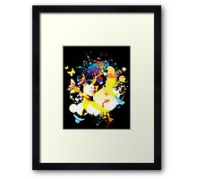 Onyx Doves - Bespattered Framed Print