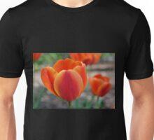 Orange Tulip Edged with Yellow Unisex T-Shirt