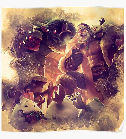 Santa Braum Poster