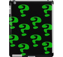 Riddler Question marks iPad Case/Skin